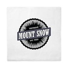 Mount Snow Ski Resort Vermont Black Queen Duvet