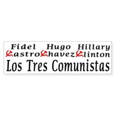 Tres Commies Bumper Bumper Sticker