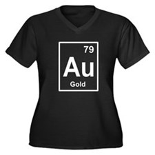 gold periodic element light Plus Size T-Shirt