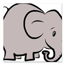 "elefant Square Car Magnet 3"" x 3"""