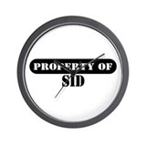 Property of Sid Wall Clock