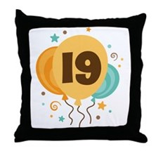 19th Birthday Party Throw Pillow