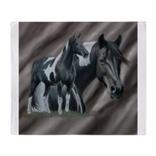 Pinto Horse Throw Blanket