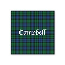 "Tartan - Campbell Square Sticker 3"" x 3"""
