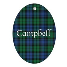 Tartan - Campbell Ornament (Oval)