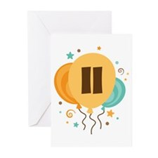 11th Birthday Party Greeting Cards (Pk of 10)