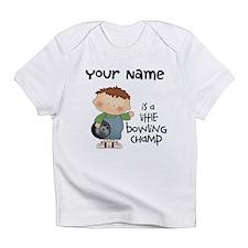 Personalized Boy Bowling Infant T-Shirt