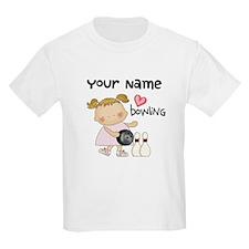 Personalized Girl Bowling T-Shirt