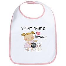 Personalized Girl Bowling Bib
