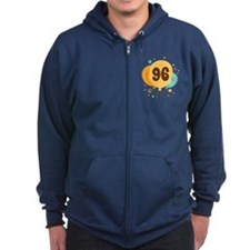 96th Birthday Party Zip Hoodie