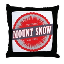 Mount Snow Ski Resort Vermont Red Throw Pillow