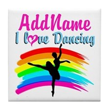 DANCING GIRL Tile Coaster