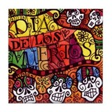 Day of the Dead / Dia de los Muertos Tile Coaster