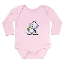 KiniArt Playful Westie Long Sleeve Infant Bodysuit