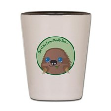 Sloth T Shirt Shot Glass