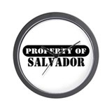 Property of Salvador Wall Clock