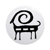 AbOriginalz Tribal Ram Ornament (Round)