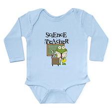 Frog Science Teacher Long Sleeve Infant Bodysuit