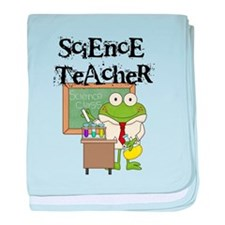Frog Science Teacher baby blanket