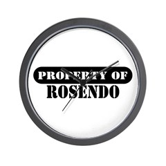 Property of Rosendo Wall Clock