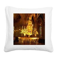 Basillica Tabernacle Square Canvas Pillow