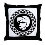 Rude Girl Emblem Throw Pillow