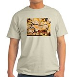 Second Bull, Cave Painting, L Ash Grey T-Shirt
