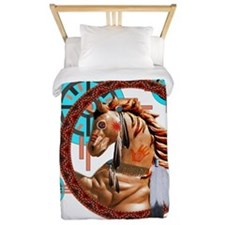 Painted Horse Design Twin Duvet