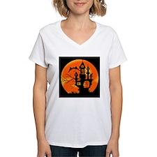 Halloween Moon Women's V-Neck T-Shirt