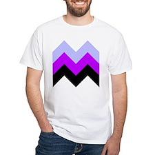 Purple Chevron White T-Shirt