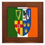 Four Provinces Shield Framed Tile