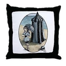 Gothic Beach Beauty Throw Pillow