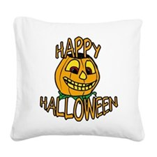happy halloween Smiling Pumpkin Square Canvas Pill