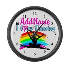 BALLET DANCER Large Wall Clock