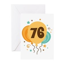 76th Birthday Party Greeting Cards (Pk of 10)