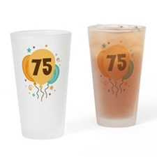 75th Birthday Party Drinking Glass
