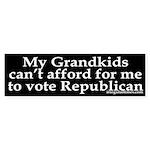 My Grandkids Can't Afford Bush (Sticker)