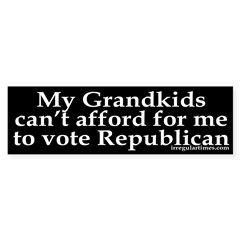 My Grandkids Can't Afford Bush (Sticker)