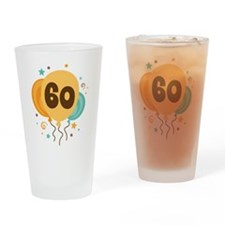 60th Birthday Party Drinking Glass
