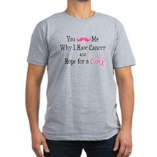 Mustache Me Hate Cancer T-Shirt