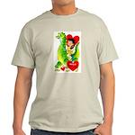 Cave Boy & Dinosaur Ash Grey T-Shirt