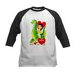 Cave Boy & Dinosaur Kids Baseball Jersey