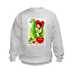 Cave Boy & Dinosaur Kids Sweatshirt