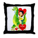 Cave Boy & Dinosaur Throw Pillow