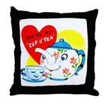 Cup o' Tea Throw Pillow