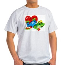 Froggy Valentine Ash Grey T-Shirt