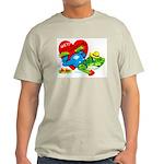 Froggy Valentine Ash Grey T-Shirt