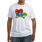 Froggy Valentine Fitted T-Shirt