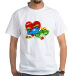 Froggy Valentine White T-Shirt