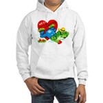 Froggy Valentine Hooded Sweatshirt